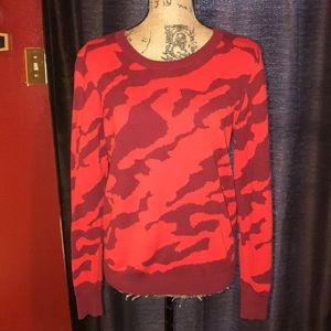 Cabi red/burgundy printed sweater